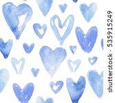 Blue Hearts Pattern. Happy...