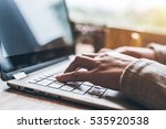 concept of working at home  | Shutterstock . vector #535920538