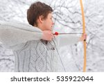 handsome young sportsman ... | Shutterstock . vector #535922044