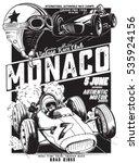vintage vector monaco race... | Shutterstock .eps vector #535924156