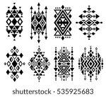vintage mexican aztec tribal... | Shutterstock .eps vector #535925683