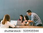 group of young asian business... | Shutterstock . vector #535935544