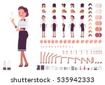 secretary character creation... | Shutterstock .eps vector #535942333