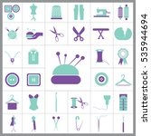 set of tailor icons. contains... | Shutterstock .eps vector #535944694