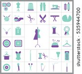 set of tailor icons. contains... | Shutterstock .eps vector #535944700