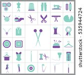 set of tailor icons. contains... | Shutterstock .eps vector #535944724