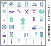 set of tailor icons. contains... | Shutterstock .eps vector #535944754