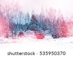 village in winter snow covered ...   Shutterstock . vector #535950370