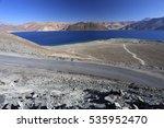 view of pangong lake in leh ... | Shutterstock . vector #535952470