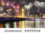 big ben and westminster bridge... | Shutterstock . vector #535955518