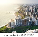 Lima  Peru  Aerial View Of...