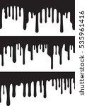 black paint drips. vector... | Shutterstock .eps vector #535961416