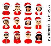 christmas vector people avatars ... | Shutterstock .eps vector #535969798