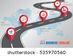 design template  road map... | Shutterstock .eps vector #535970560