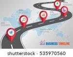 design template  road map... | Shutterstock .eps vector #535970560