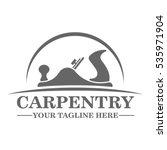 carpentry logo template design   Shutterstock .eps vector #535971904