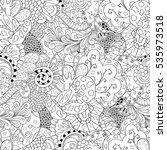 tracery seamless calming... | Shutterstock .eps vector #535973518
