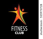 vector logo for fitness | Shutterstock .eps vector #535973728
