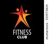 vector logo for fitness | Shutterstock .eps vector #535973824