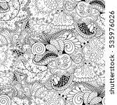 tracery seamless calming... | Shutterstock .eps vector #535976026