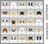 Stock vector set of dogs vector illustration breeds puppy 535976344