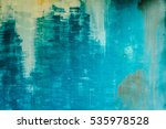 old cement paint blue wall... | Shutterstock . vector #535978528
