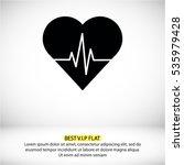 heartbeat  icon   Shutterstock .eps vector #535979428
