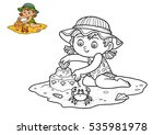 coloring book for children ... | Shutterstock . vector #535981978