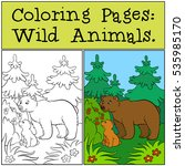 coloring pages  wild animals.... | Shutterstock .eps vector #535985170