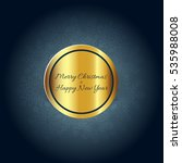 christmas greeting card... | Shutterstock .eps vector #535988008
