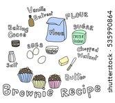 set of ingredients for baking... | Shutterstock .eps vector #535990864