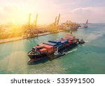 container container ship in... | Shutterstock . vector #535991500