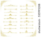 set decorative vintage gold... | Shutterstock . vector #535995208