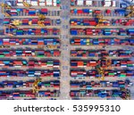 container container ship in... | Shutterstock . vector #535995310