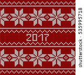 red knitted seamless pattern....   Shutterstock . vector #535995718