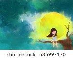 illustration water color...   Shutterstock . vector #535997170