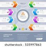 vector steps option arrow... | Shutterstock .eps vector #535997863