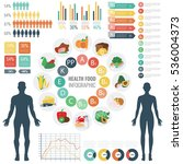 vitamin food sources with chart ... | Shutterstock .eps vector #536004373