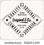 original denim print for t... | Shutterstock .eps vector #536011144