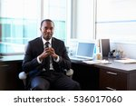 portrait of doctor sitting at... | Shutterstock . vector #536017060