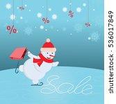 vector illustration of snowman... | Shutterstock .eps vector #536017849
