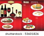 restaurant menu. full design... | Shutterstock .eps vector #53601826