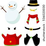 Cute Paper Doll With Winter...