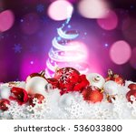 christmas glass ball. | Shutterstock . vector #536033800