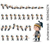 knight character sprites for... | Shutterstock .eps vector #536046274