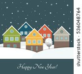 merry christmas and happy new... | Shutterstock .eps vector #536048764