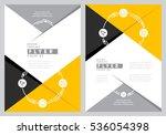 flyer cover design  business... | Shutterstock .eps vector #536054398
