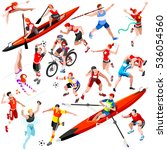 sport icon set isometric with... | Shutterstock . vector #536054560