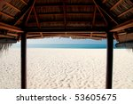 view from a beach cabana on the ... | Shutterstock . vector #53605675