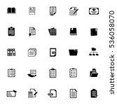 file folder icons   Shutterstock .eps vector #536058070